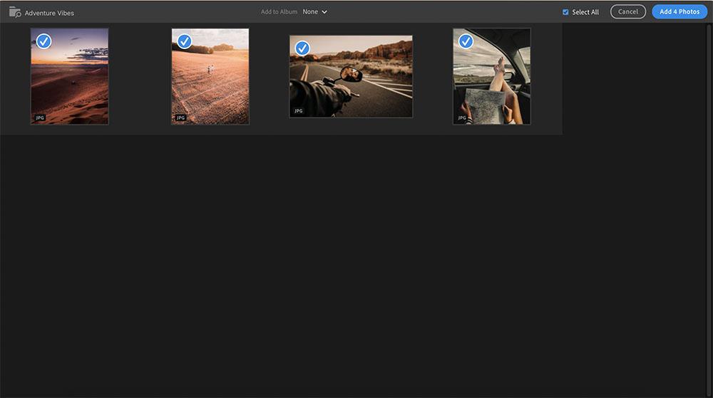 CC Import Screen