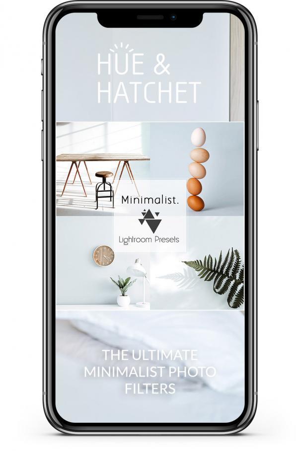 minimalist lightroom filters