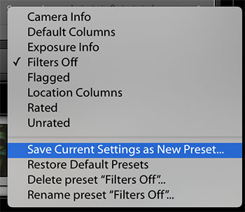 Graduated Filter Preset