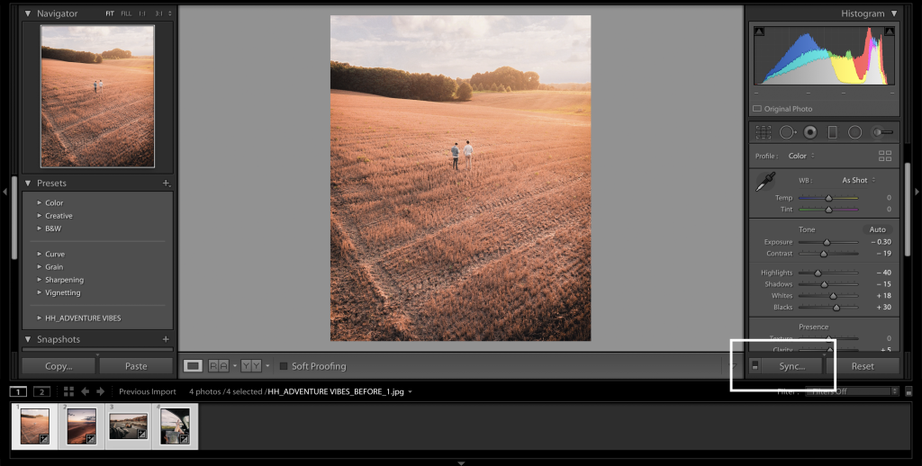 batch edit in lightroom2