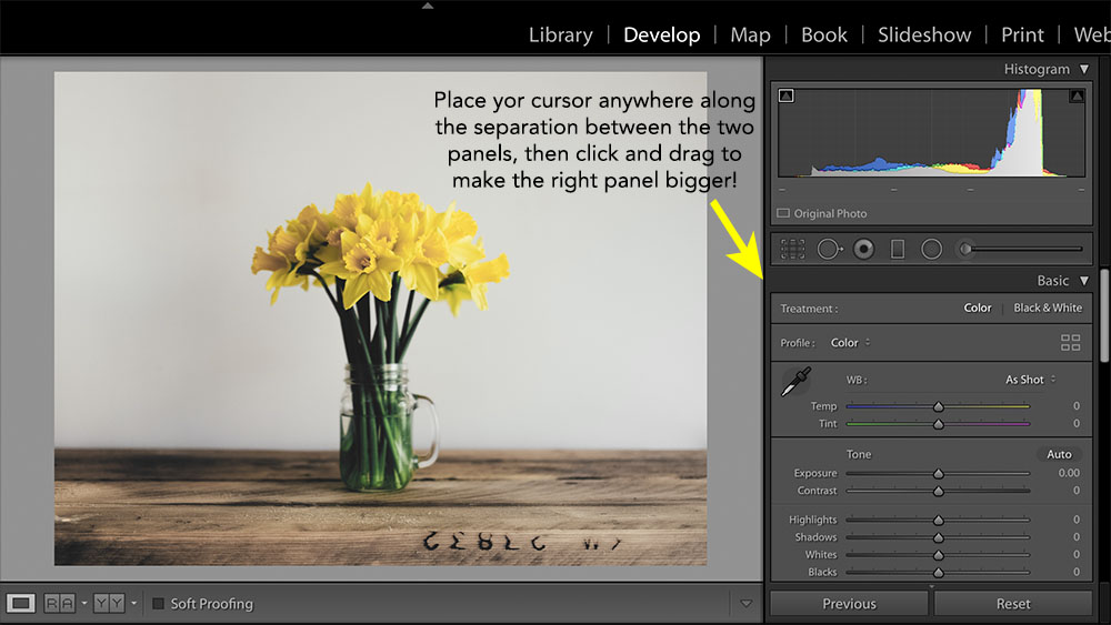 expand lightroom sliders
