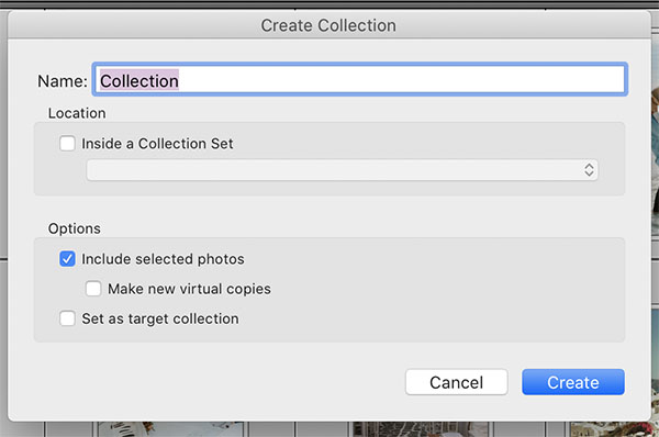 Filters Create Collection2
