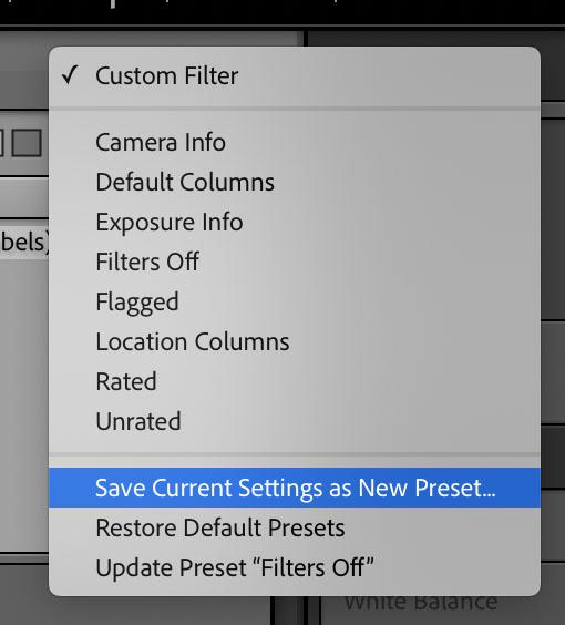 Filters Preset